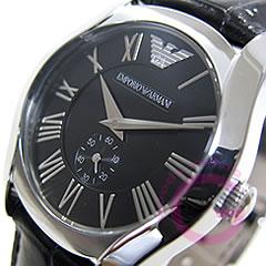 EMPORIO ARMANI (エンポリオ アルマーニ) AR0644 クラシック スモールセコンド レザーベルト ボーイズサイズ メンズウォッチ 腕時計 【あす楽対応】