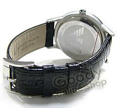 EMPORIO ARMANI ( Emporio Armani ) AR2411 classic black leather men's watch