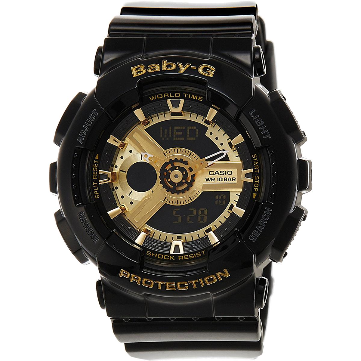 CASIO BABY-G カシオ ベビーG BA-110-1A/BA110-1A アナデジ ブラック レディース 腕時計 日本版型番:BA-110-1AJF/BA110-1AJF 【あす楽対応】