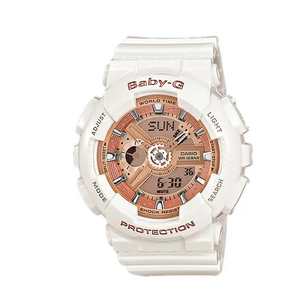 CASIO BABY-G カシオ ベビーG BA-110-7A1/BA110-7A1 アナデジ ホワイト/ゴールド レディース 腕時計 日本版型番:BA-110-7A1JF/BA110-7A1JF