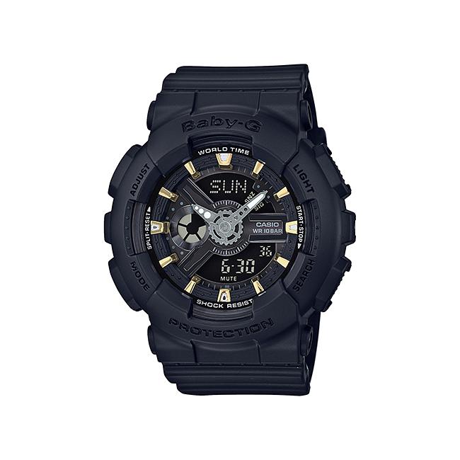 CASIO BABY-G カシオ ベビーG BA-110GA-1A/BA110GA-1A アナデジ ブラック レディース 腕時計 日本版型番:BA-110GA-1AJF/BA110GA-1AJF