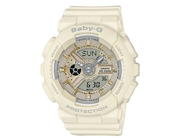CASIO BABY-G カシオ ベビーG BA-110GA-7A2/BA110GA-7A2 アナデジ ベージュ/ゴールド レディース 腕時計 日本版型番:BA-110GA-7A2JF/BA110GA-7A2JF