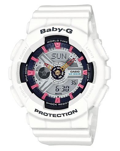 【並行輸入品】 CASIO BABY-G カシオ ベビーG BA-110SN-7A/BA110SN-7A BIG CASE SERIES/ビッグケース シリーズ アナデジ ホワイト レディース 腕時計 BA-110SN-7AJF/BA110SN-7AJF