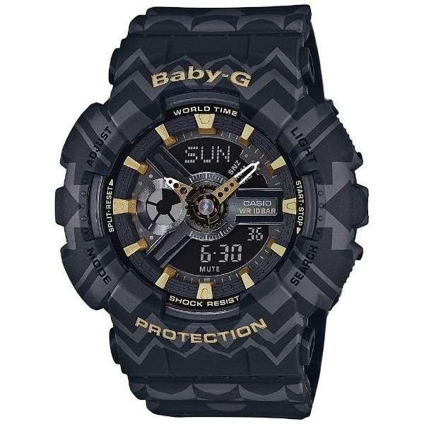 CASIO BABY-G カシオ ベビーG BA-110TP-1A/BA110TP-1A ボヘミアンスタイル アナデジ ブラック/グレー レディース 腕時計 日本版型番:BA-110TP-1AJF/BA110TP-1AJF