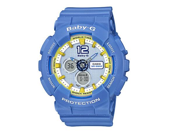 【並行輸入品】 CASIO BABY-G カシオ ベビーG BA-120-2B/BA-120-2B アナデジ スカイブルー レディース 腕時計 BA-120-2BJF/BA120-2BJF