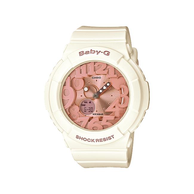 CASIO BABY-G カシオ ベビーG BGA-131-7B2/BGA131-7B2 Shell Pink Colors/シェルピンクカラーズ アナデジ ホワイト/ピンクゴールド レディース 腕時計 日本版型番:BGA-131-7B2JF/BGA131-7B2JF
