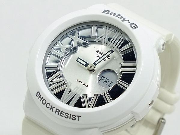 CASIO BABY-G カシオ ベビーG BGA-160-7B1/BGA160-7B1 Neon Dial Series/ネオンダイアルシリーズ アナデジ ホワイト レディース 腕時計 日本版型番:BGA-160-7B1JF/BGA160-7B1JF