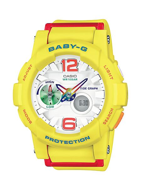 【並行輸入品】 CASIO BABY-G カシオ ベビーG BGA-180-9B/BGA180-9B G-LIDE/G-ライド アナデジ イエロー レディース 腕時計 BGA-180-9BJF/BGA180-9BJF