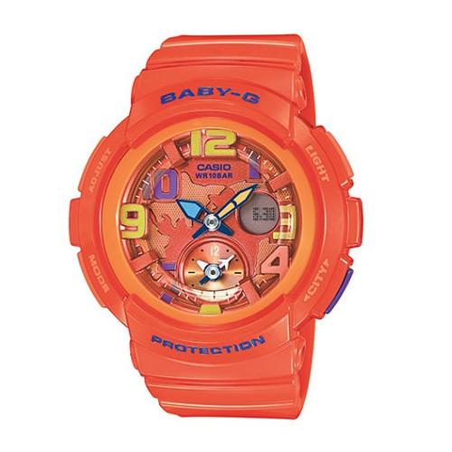 【並行輸入品】 CASIO BABY-G カシオ ベビーG BGA-190-4B/BGA190-4B BEACH TRAVELER SERIES/ビーチ トラベラー アナデジ オレンジ レディース 腕時計 BGA-190-4BJF/BGA190-4BJF