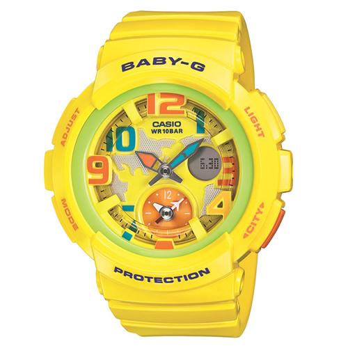 【並行輸入品】 CASIO BABY-G カシオ ベビーG BGA-190-9B/BGA190-9B BEACH TRAVELER SERIES/ビーチ トラベラー アナデジ イエロー レディース 腕時計 BGA-190-9BJF/BGA190-9BJF