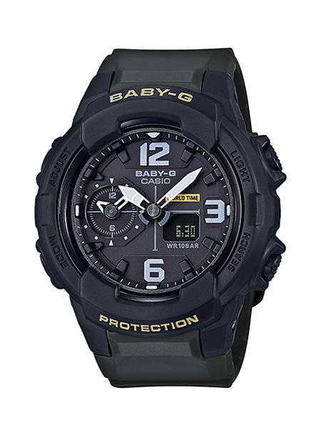 CASIO BABY-G カシオ ベビーG BGA-230-3B/BGA230-3B アナデジ ブラック/カーキ レディース 腕時計 日本版型番:BGA-230-3BJF/BGA230-3BJF