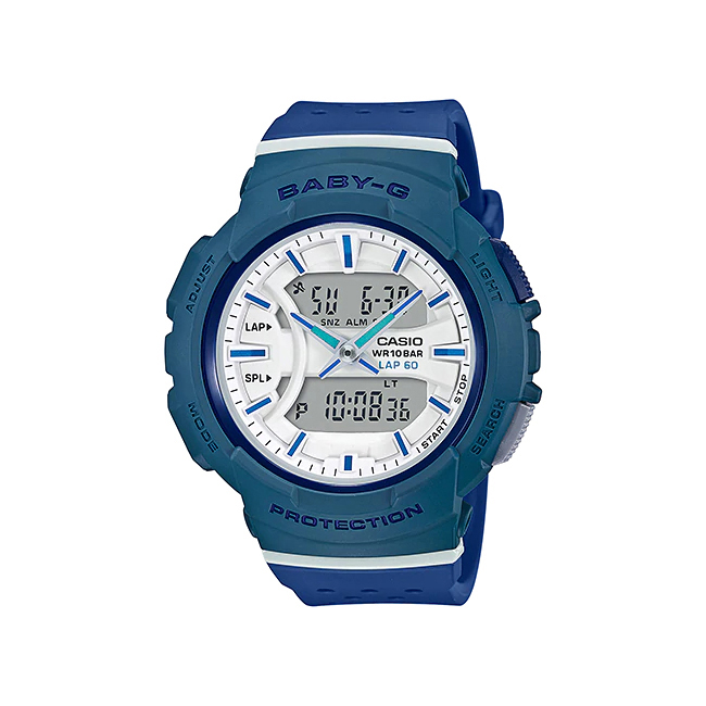 CASIO BABY-G カシオ ベビーG BGA-240-2A2/BGA240-2A2 For Running/フォーランニング アナデジ ブルー レディース 腕時計 日本版型番:BGA-240-2A2JF/BGA240-2A2JF