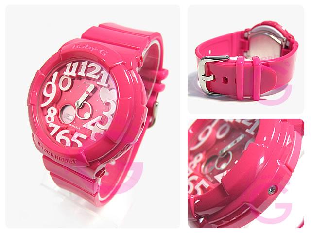 CASIO BABY-G(卡西欧小孩G)BGA-130-4B/BGA130-4B Neon Dial Series(霓虹灯拨盘)粉红色女士表手表