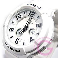 CASIO baby-g (CASIO baby G) BGA-132-7B/BGA132-7B neon dial series whole white ladies watch watches