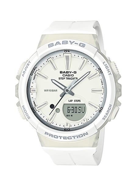CASIO BABY-G カシオ ベビーG BGS-100-7A1/BGS100-7A1 アナデジ ステップトラッカー ホワイト レディース 腕時計 日本版型番:BGS-100-7A1JF/BGS100-7A1JF