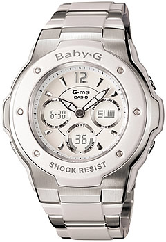CASIO BABY-G (Casio baby G) MSG-300C-7B1DR/MSG300C-7B1DR G-ms metal composite belt hole Desiree Dis watch
