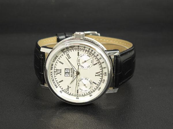 自动拧BROOKIANA(ブルッキアーナ)BA1665-SV,并且是大男子日期白表手表