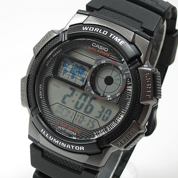 Sports world time with watch CASIO (CASIO) AE-1000W-1B/AE1000W-1B