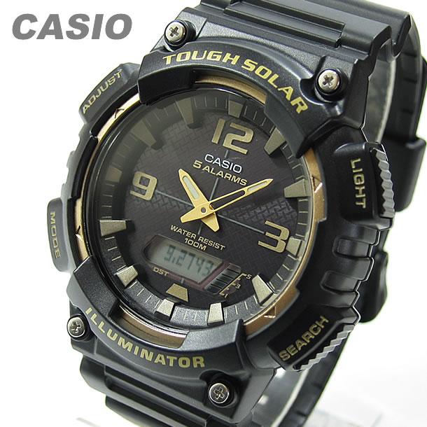 【メール便】 CASIO カシオ AQ-S810W-1A3/AQS810W-1A3 タフソーラー アナデジ ブラック キッズ 子供 かわいい メンズ/ユニセックス チープカシオ チプカシ 腕時計 【あす楽対応】