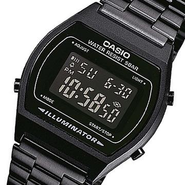 对数码基本CASIO(卡西欧)B-640WB-1B/B640WB-1B金属皮带全部黑色小孩/小孩是推荐! 可爱! 男女两用表手表