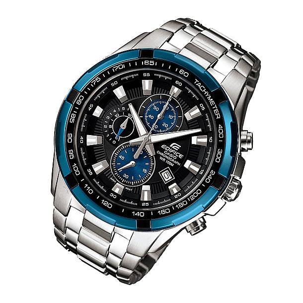 bf1bf9b5ba CASIO EDIFICE(カシオ エディフィス) EF-539D-1A2/EF539D-1A2 クロノグラフ メタルベルト ブルー×シルバー メンズウォッチ  海外モデル 腕時計 上品