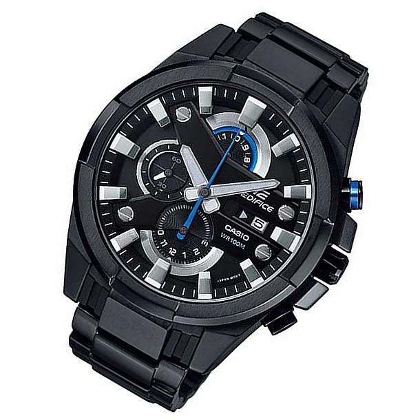CASIO EDIFICE(カシオ エディフィス) EFR-540BK-1A/EFR540BK-1A クロノグラフ メタルベルト ブラック×ブルー メンズウォッチ 海外モデル 腕時計 【あす楽対応】