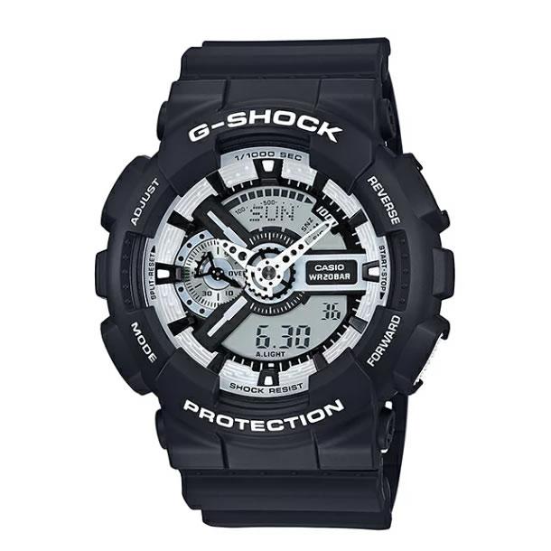 CASIO G-SHOCK(カシオ Gショック) GA-110BW-1A/GA110BW-1A WHITE AND BLACK SERIES/ホワイト&ブラック アナデジ ブラック 腕時計 (日本版型番:GA-110BW-1AJF/GA110BW-1AJF)