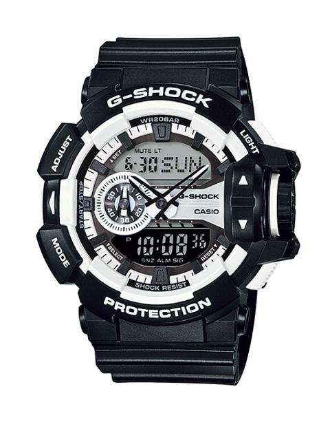 CASIO G-SHOCK(カシオ Gショック) GA-400-1A/GA400-1A HYPER COLORS/ハイパーカラーズ アナデジ ブラック×ホワイト 腕時計 (日本版型番:GA-400-1AJF/GA400-1AJF)