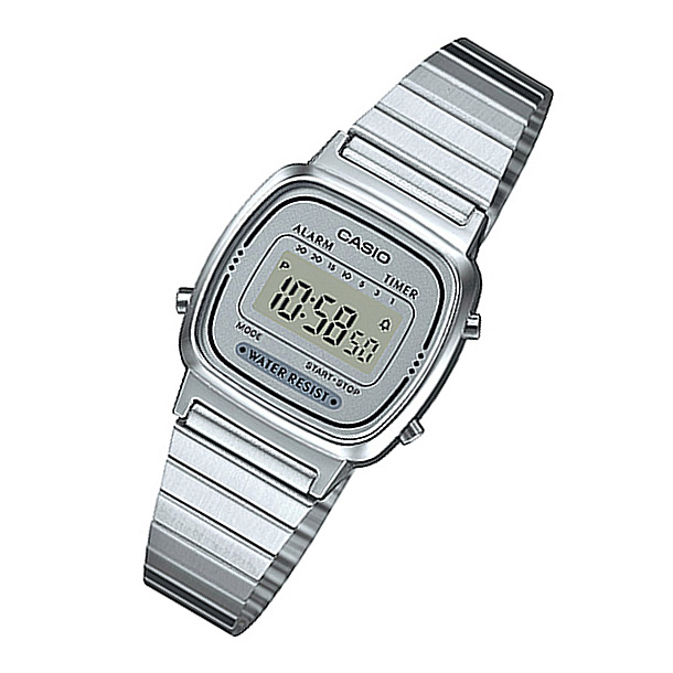 CASIO (CASIO) LA-670WA-7/LA 670WA-7 standard digital all silver kids, kids  recommend! Cute! Ladies watch watches