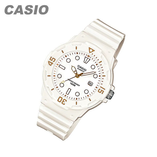 CASIO (CASIO) LRW-200H-7E2/LRW200H-7E2 sports gear military white / gold pair model ladies watch watches