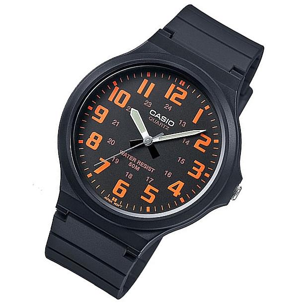 【メール便】 CASIO カシオ MW-240-4B/MW240-4B ベーシック アナログ オレンジ キッズ 子供 かわいい メンズ チープカシオ チプカシ 腕時計 【あす楽対応】