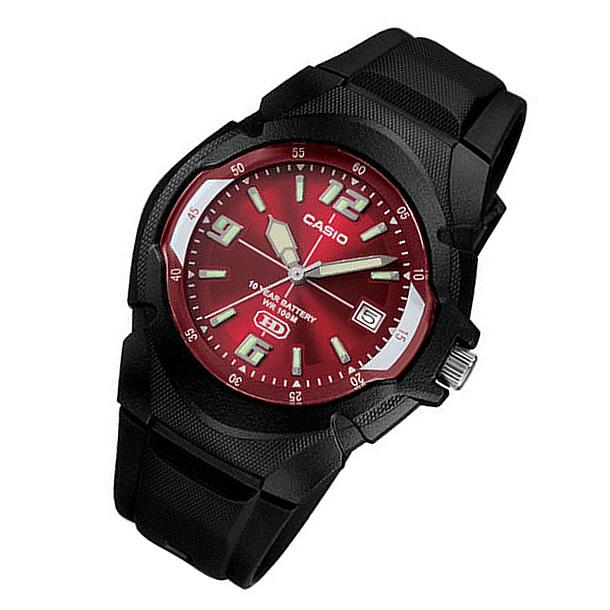 【メール便】 CASIO カシオ MW-600F-4A/MW600F-4A ベーシック アナログ ブラック/レッド キッズ 子供 かわいい メンズ チープカシオ チプカシ 腕時計 【あす楽対応】