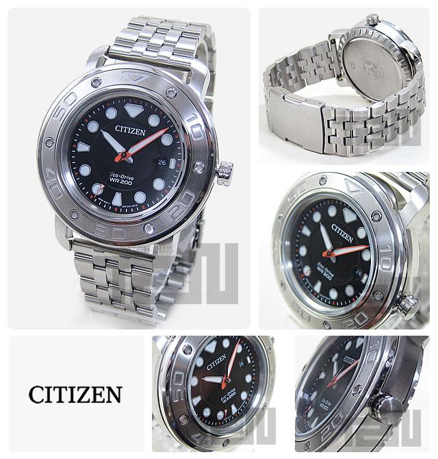 CITIZEN (シチズン) AW1530-65E Eco-Drive/エコドライブ 20気圧防水 ブラックダイアル メタルベルト メンズウォッチ 腕時計 【OAJ】