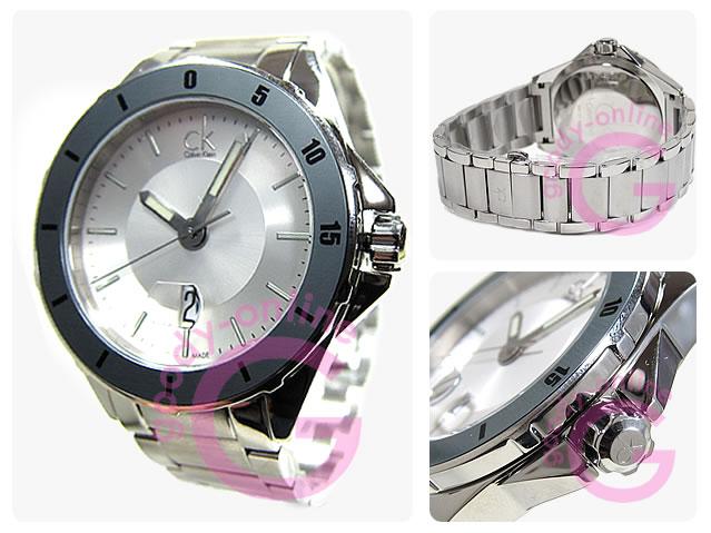 Calvin Klein (Calvin Klein) K2W21Y46/K2W21Y.46 Play / play silver silver metal belt watch watches