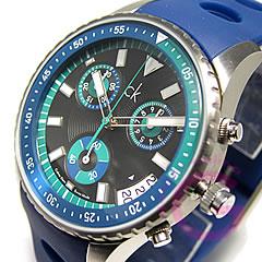 Calvin Klein(CK)挑战K32173.77/K3217377橡胶皮带计时仪人表手表