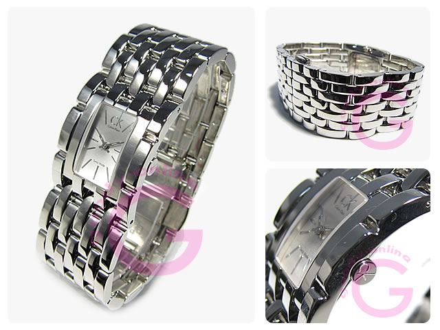 Calvin Klein(CK)辫子K84231.20/K8423120不锈钢/SS呼吸型女士Swatch手表