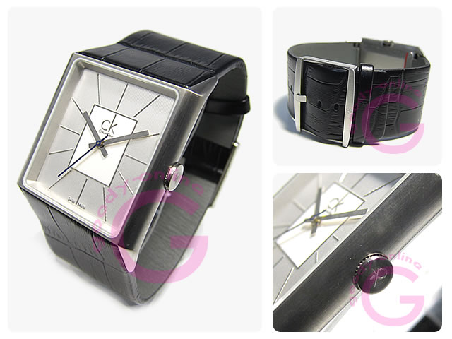 Calvin Klein (Calvin Klein) angular K96111.20/K9611120 leather belt men's watch
