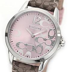 COACH (コーチ) 14501621 New Classic Signature クラシック シグネチャー スモールC ジャガード レディースウォッチ 腕時計