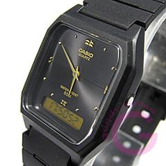 CASIO カシオ AW-48HE-1/AW48HE-1 シンプルデジタル アナデジ ブラック キッズ 子供 かわいい ユニセックス チープカシオ チプカシ 腕時計 【あす楽対応】