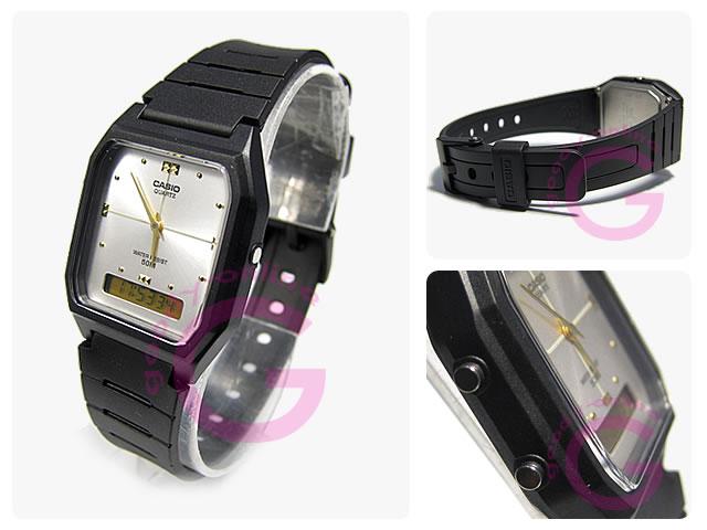 【メール便】【箱無し品】 CASIO カシオ AW-48HE-7/AW48HE-7 シンプルデジタル アナデジ シルバー キッズ 子供 かわいい ユニセックス チープカシオ チプカシ 腕時計