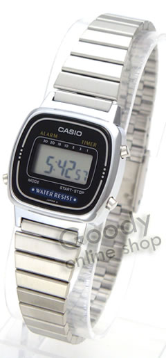 女子的LA-670WA-1UW/LA670WA-1UW银子表简单数码CASIO(卡西欧)手表