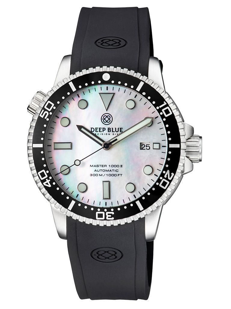 DEEP BLUE(ディープブルー)ダイバーズウォッチ MASTER 1000 II 44MM 330M/30気圧防水 SEIKO 自動巻きムーブメント セラミックべセル ビンテージ ブラックダイアル MSTR442WHMOP 腕時計 【お取り寄せ】