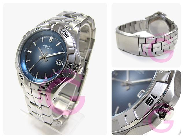 FOSSIL ( fossil ) AM3996 BLUE / blue metal belt watch