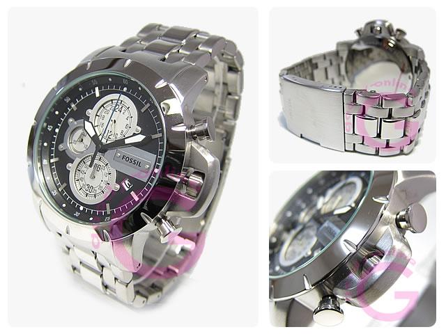 FOSSIL(fosshiru)JR1265计时仪金属皮带人表手表