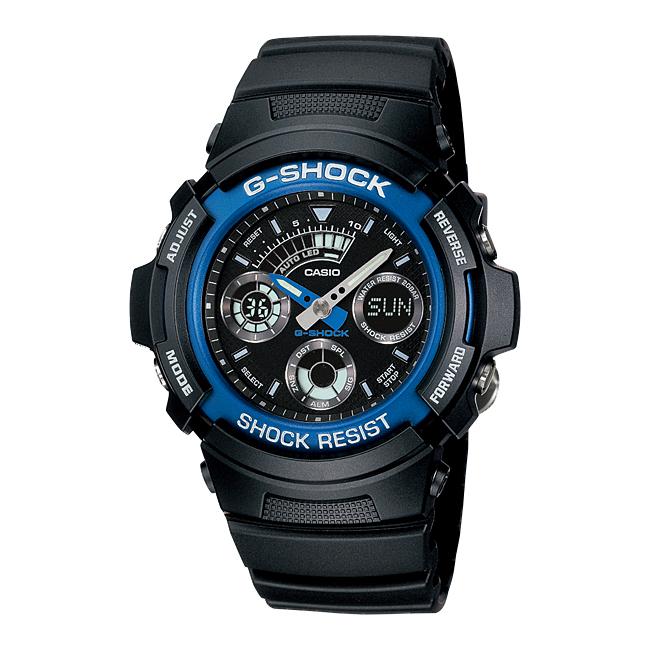CASIO G-SHOCK カシオ Gショック AW-591-2A/AW591-2A アナデジ ブラック/ブルー メンズウォッチ 腕時計 日本版型番:AW-591-2AJF/AW591-2AJF