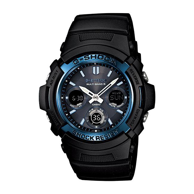 【並行輸入品】 CASIO G-SHOCK カシオ Gショック AWG-M100A-1A/AWGM100A-1A The G オールブラック マルチバンド6 タフソーラー アナデジ メンズウォッチ 腕時計