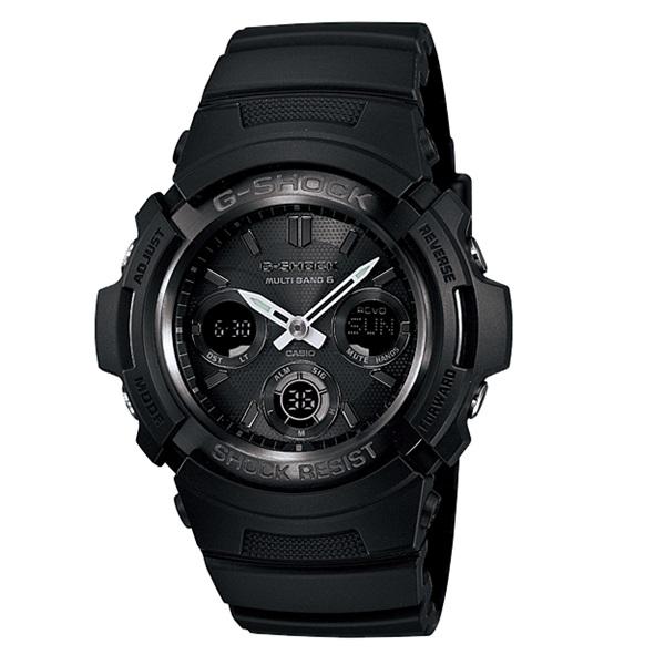 【並行輸入品】 CASIO G-SHOCK カシオ Gショック AWG-M100B-1A/AWGM100B-1A The G オールブラック マルチバンド6 タフソーラー アナデジ メンズウォッチ 腕時計