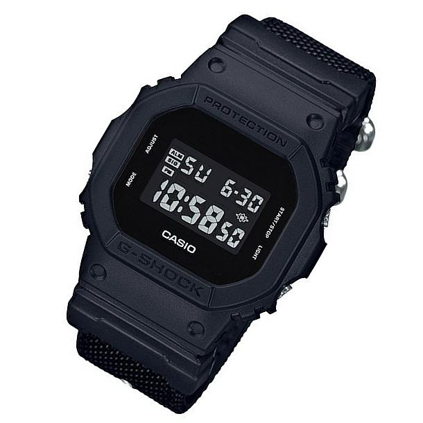 【並行輸入品】 CASIO G-SHOCK カシオ Gショック DW-5600BBN-1/DW5600BBN-1 CORDURA R ファブリックバンド ミリタリーブラック メンズウォッチ 腕時計