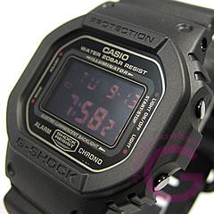 男子的CASIO G-SHOCK(卡西欧G打击)DW-5600MS-1/DW5600MS-1棕垫黑色红眼睛表手表