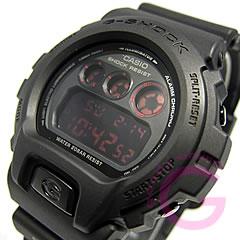 卡西欧 g 冲击 G 冲击卡西欧 DW-6900MS-1/DW 6900MS-1 哑光黑红眼男装手表